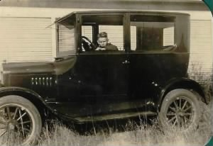 Jay Lee Adams and the car he drove to school every day.jpg