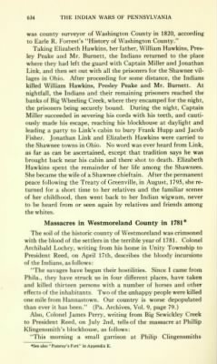 Colonel Archibald Lochry in book section, Massacres in Westmoreland County in 1781 Page 634 The Indian Wars of Pennsylvania by C.jpg