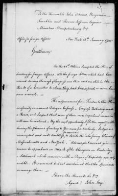 Foreign Letters of the Continental Congress and Department of State, 1785-1790 › Page 1 - Fold3.com