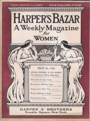 5/26/1900 - Harper's Bazar - Woman Suffrage in Idaho by Gov. Frank Steunenberg